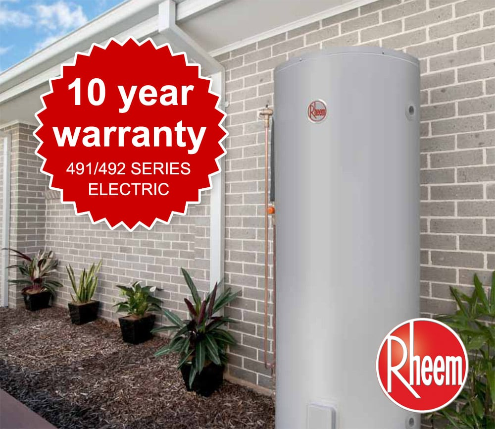 rheem hot water heaters for sale