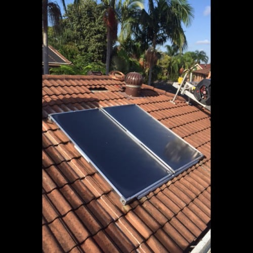 fix solar hot water system
