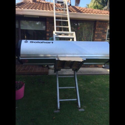 install new solar hot water system