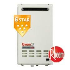 Rheem hot water system gas