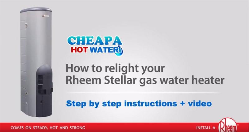 how to relight pilot rheem stellar gas water heater