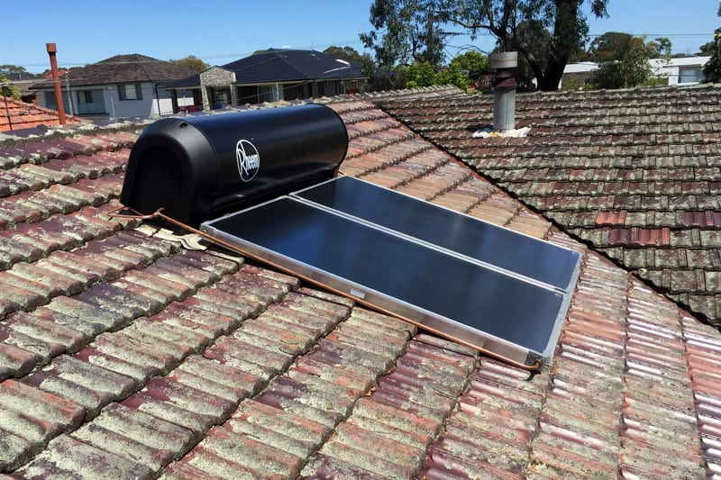 rheem solar hot water system installation
