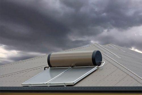 solar hot water backup system repair